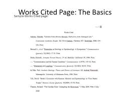 Work Cited Example Of A Works Cited Page Magdalene Project Org
