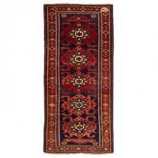 antique kurdish wool rug 4 9 x10 1