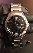 versace watch versace landmark mens black dial 41mm swiss steel quartz watch p6q99gd008 s099