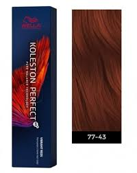 Wella Vibrant Reds Colour Chart Wella Koleston Perfect Me Permanent Hair Color 77 43 Intense Medium Blonde Red Gold