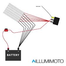illumimoto motorcycle led light wiring diagram