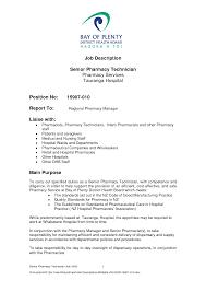 Pharmacist Job Description Template Retail Staff Pharmacist Resume