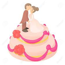 Wedding Cake Icon Cartoon Illustration Of Wedding Cake Vector