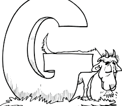 letter g coloring pages inside