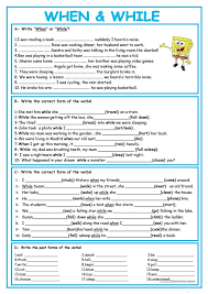 WHEN or WHILE | inglizce | Pinterest | English, Worksheets and ...