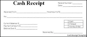 Cash Receipt Form Template Andeshouse Co