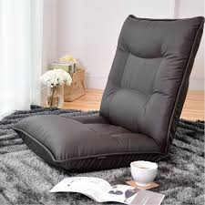 Leather Chair Modern Floor Coffee Color Living Room Comfy Lounge Recliner  Modern Fashion Leisure Tatami Floor