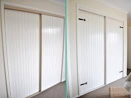painted closet door ideas. Rolling Doors Update With Hardware Painted Closet Door Ideas