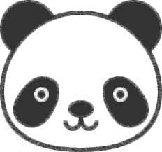 パンダのイラストの簡単な書き方
