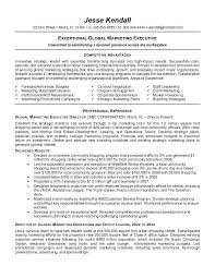 exceptional global Marketing Executive Resume Samples