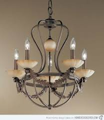 İron chandeliers 5 light wrought iron chandelier with rustic bronze finish hbscnsj