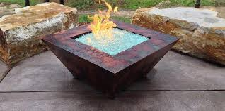 Home Stylish Stamped Concrete Patio With Square Fire Pit 2 Stylish