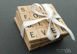 Decorative Tile Coasters DIY Scrabble Tile Coasters Home Crafts by Ali 64