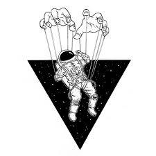 Astronaut Space Uzay Cosmos Galaxy Drawing Art Illustration