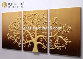 tree wall decor art youtube: wooden luxuy home decor art work wall relief painting with tree