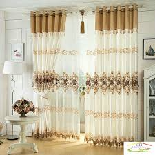 Luxury Window Curtain For Living Room/Bedrooms /Hotel White/ Brown ...