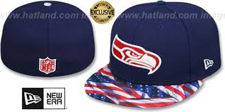 Hat 'usa Seahawks New Waving-flag' Era Fitted Navy By