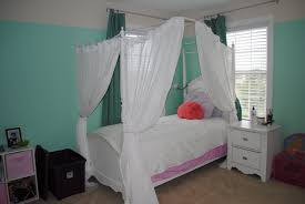 Diy Canopy Bed Diy Canopy Bed With Curtain Rods Ideas Amys Office