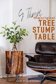 how to make a tree stump table diy