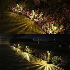 Smartyard Small Led Pathway Lights 6 Pack Solar Powered Landscape Lighting 5 Led Solar Landscape