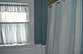 cheap window treatments. Cheap Bathroom Window Curtains In Stripe Blue And White Color Treatments U