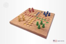 Wooden Parcheesi Board Game Fancy Wooden Ludo Parcheesi Aggravation Trouble board game 2