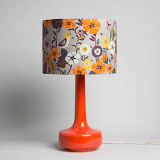 bell bottom table lamp with nasturtium shade