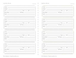 Address Book Printable Template Free Microsoft Getreach Co