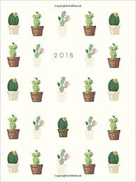 Academic Daily Planner 2018 Cactus Weekly Monthly Planner Small Undated Monthly Planner