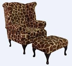 giraffe furniture. Giraffe Furniture. Chesterfield Saxon Queen Anne High Back Wing Chair Big + Footstool Animal Furniture