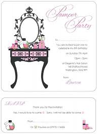 Free Printable Spa Party Invitations Templates Pamper Party