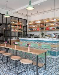 Bistro Design Pictures Modern Bistro Design Featuring Neon Lights Patterned Floor