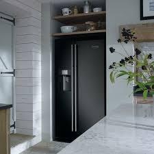 black refrigerator in kitchen. rangemaster rsxs15bl/c - american style fridge freezer ice \u0026 water | appliance city black refrigerator in kitchen