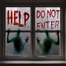 Angmart 2PCS Halloween Giant Bloody Window ... - Amazon.com