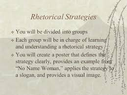 "no w "" and rhetorical strategies mr josefino rivera jr  7 rhetorical strategies"