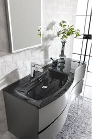 svelte 120 unit charcoal glass basin in bathroom furniture sku svelte120 unit charc glass basin crosswater bathrooms