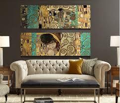 <b>2 Panel Unframed</b> The Kiss and The Tree of Life Artists Gustav Klimt ...