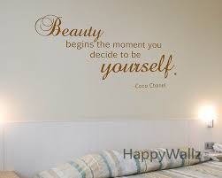 Beautiful Wall Quotes Best of Motivational Quote Wall Sticker Beauty Begins The Moment You Decide