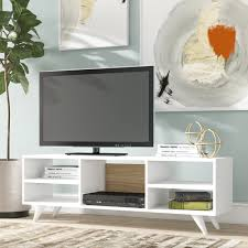 Ebern Designs Nyle Glass 60 Tv Stand Demeter Tv Stand For Tvs Up To 50 Inches