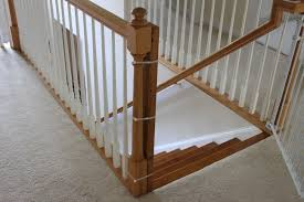 Gate For Stairs Installing A Baby Gate Without Drilling Into A Banister Insourcelife