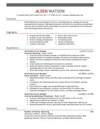Enchanting Marketing Summary For Resume Free Resume Templates