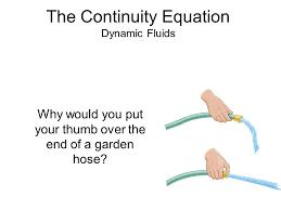 continuity equation physics. the continuity equation dynamic fluids physics