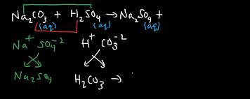 na2co3 h2so4 sodium carbonate and sulfuric acid double displacement gas evolution reaction