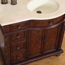 "Bathroom Vanitiy Enchanting 48"" Perfecta PA48 Bathroom Vanity Single Sink Cabinet English"