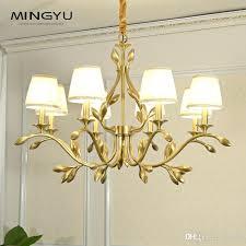 fabric chandelier fabric chandelier pendant ceiling lamp decorative vintage country style antique color metal 3 arms