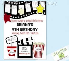 Movie Invitation Template Free Movie Birthday Party Invitations Movie Birthday Party Invitations 9