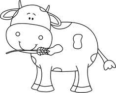 cow clipart black and white. Interesting Black Black And White Cow With Wheat In Its Mouth Coloring Pages Clipart In Clipart And C