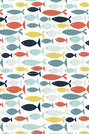Fish Pattern Extraordinary With Added Patterns In The Fishes ÇİZGİDESEN GRAFİK AFİŞ