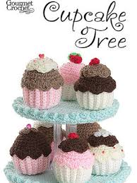 Crochet Cupcake Pattern Best Gourmet Crochet Cupcake Tree Pattern At Dream Weaver Yarns LLC