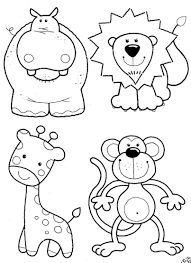 Small Picture Coloring Pages Animals Baby Zoo Animals Coloring Page Coloring